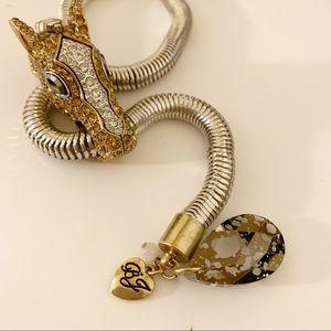 Vintage Betsey Johnson Horse slide Necklace!